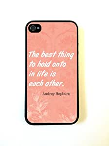 Shawnex Audrey Hepburn Quote Each Other Coral ThinShell Case Protective iPhone 4 Case iPhone 4S Case