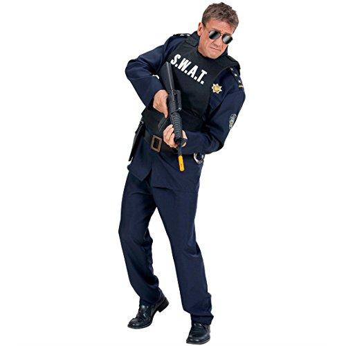 SWAT Weste Kostüm für Erwachsene Einsatzweste Sonderkommando Spezialweste Elite Polizist Cop Polizei