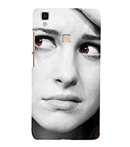For Vivo V3Max beautiful women, girl, cute girl Designer Printed High Quality Smooth Matte Protective Mobile Case Back Pouch Cover by APEX