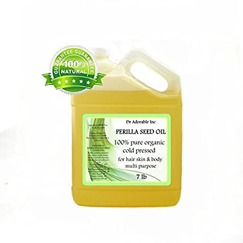 Perilla Seed Oil Oil Pure Cold Pressed Organic 128 Oz / 7 Lb / One Gallon
