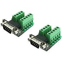 VIKINS connettore da Db9 a Db25 Db15/Femalle/maschio D-sub 25 pin/- 15-pin/9 pin a doppio terminale PCB Board (confezione da 2)