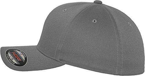 Flexfit Wooly Combed - 6 Panel Unisex Baseball Cap in 28 Farben, für Erwachsene und Kinder Grey