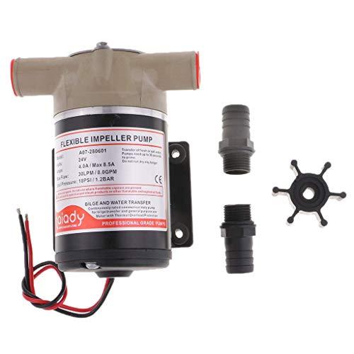 Tubayia 24V Impeller Wasserpumpe Laufrad Wasserpumpen Bilge Pumpe für Marine RV -