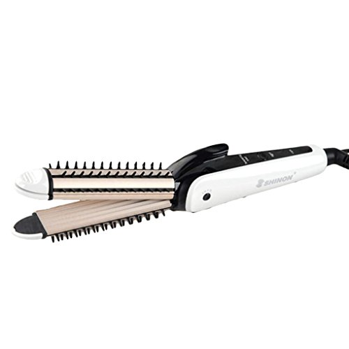 3 in 1 Mini Tragbare Haarglätter Welle Lockenwickler Pinsel Heißer Mais Dauerwelle Curling Zauberstab und Crimper Eisen Roller Republe (Tragbare Mini-haarglätter)