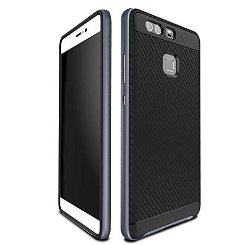 Funda Huawei P9 Cover,Vikoo Funda Protectora Back Shell Carcasa para Huawei P9 Smartphone Case - Gris