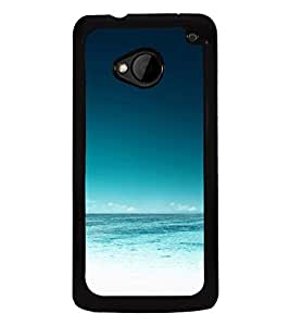 Ocean 2D Hard Polycarbonate Designer Back Case Cover for HTC One :: HTC One M7