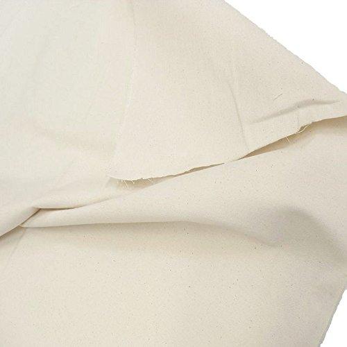 TOLKO® Baumwollstoff Meterware Canvas ROH-Baumwolle Natur-Beige als Polsterstoff/Bezugsstoff (Breite: 102 cm | mittelschwer)