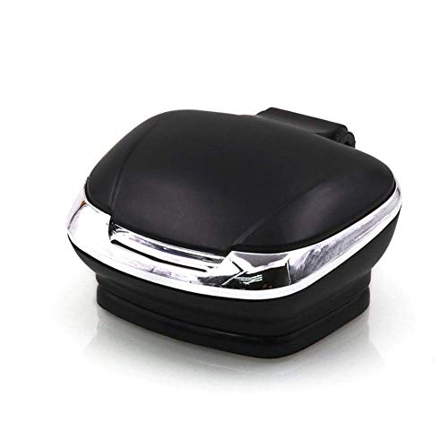 Preisvergleich Produktbild Xljh Auto Aschenbecher Auto liefert multifunktional Auto Aschenbecher Home Office Basis Paste mit LED-Lampe Aschenbecher Universal hohe Temperatur, Black