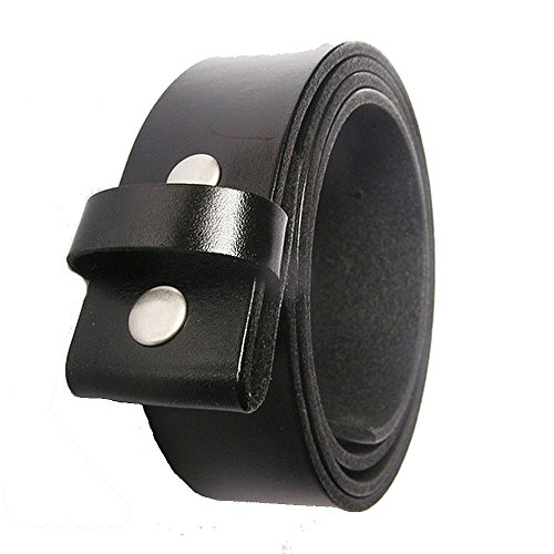 Leather belt with eagle for universal belt buckle - 150 cm
