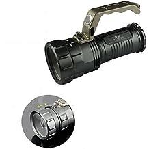 PLANET SHOP - TORCIA 80000W TATTICA MILITARE LED T6 T808-T6 FARO PORTATILE CON MANICO