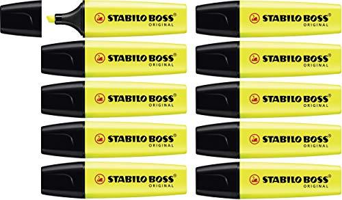 Stabilo boss original evidenziatore colore giallo - confezione da 10