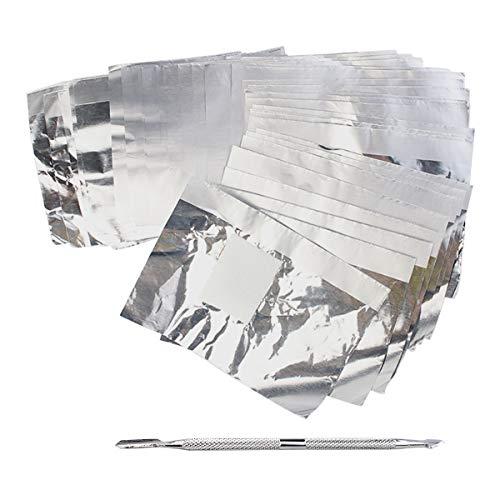 300 Pack Nail Foil Wraps Gel Nail Remover Wraps Aluminium Foil Nail Wraps