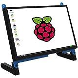Monitor de Pantalla táctil portátil de 7 Pulgadas para Raspberry Pi 4, Pantalla táctil capacitiva IPS 1024x600 Game LCD Exten