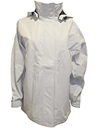 Ladies Pale Grey Lined Waterproof Jacket with Hood Sizes 12-18 Available