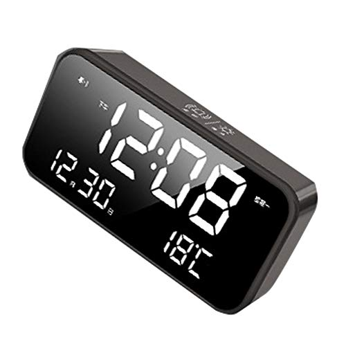 LICHUXIN 25 mit der Alarmdatum LED Wetterstation polyphonen Musik DREI Arten von Alarmmodus Memory-Funktion der Temperatur und Luftfeuchtigkeitsanzeige