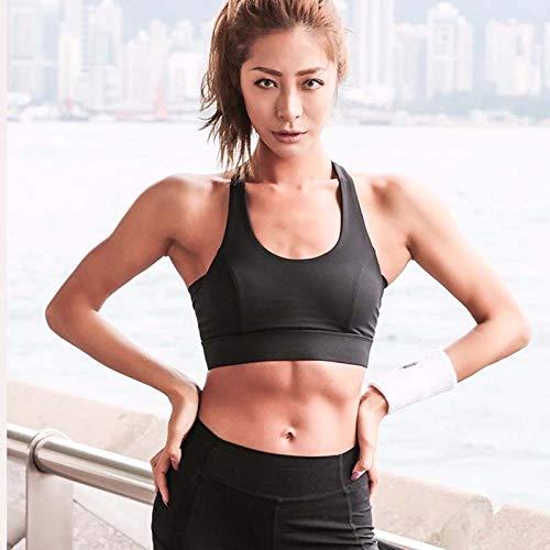 LXJ Sport-BHS, weißen Bügel Push-Up-Sport-BH for Frauen-Gymnastik-laufenden Yoga Top-BH Sport Weste höhlt heraus Sportswear Unterwäsche (Color : White, Size : M) - 6