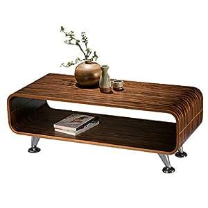 Table basse de salon / club Perugia, 34x90x39cm ~ zèbre foncé, rayures larges