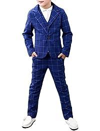 Zhuhaitf Mode 3 Piece Kids Children School Suit for Boys Boys Formal Wedding Blazer Suit Boys Suit Party Tuxedos 4127