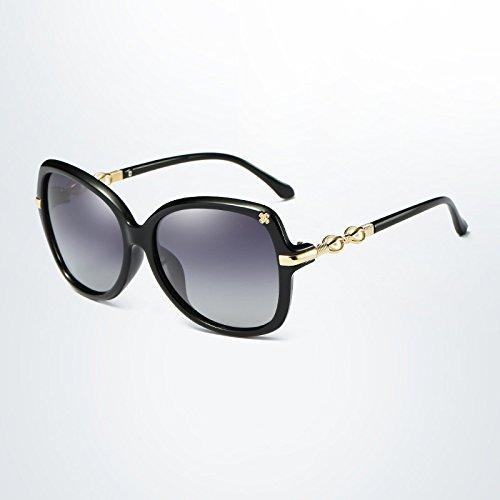 Y-WEIFENG Frauen Polarisierte Sonnenbrille Oval Sonnenbrille Schmetterling Rahmen Sommer Gradient Lens (Color : 2)