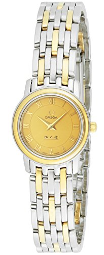 OMEGA WOMEN'S DE VILLE 22MM TWO TONE STEEL BRACELET QUARTZ WATCH 4370.12.00