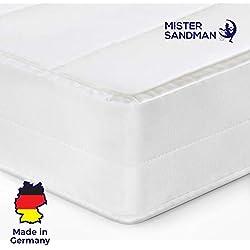 Mister Sandman Matelas Pas Cher 7 Zones de Confort, 2 fermetés 2en1 - Lit Ferme et mi Ferme réversible, érgonomique, Housse Lavable, épaisseur 15 cm (140 x 190 cm, H2)