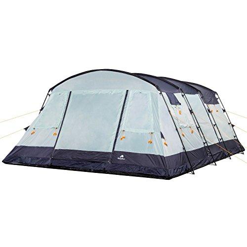 CampFeuer - 6 Personen Familienzelt, riesiger Vorraum, 5000 mm Wassersäule, Campingzelt, (+ 6 weitere Personen im Vorraum möglich) - 3