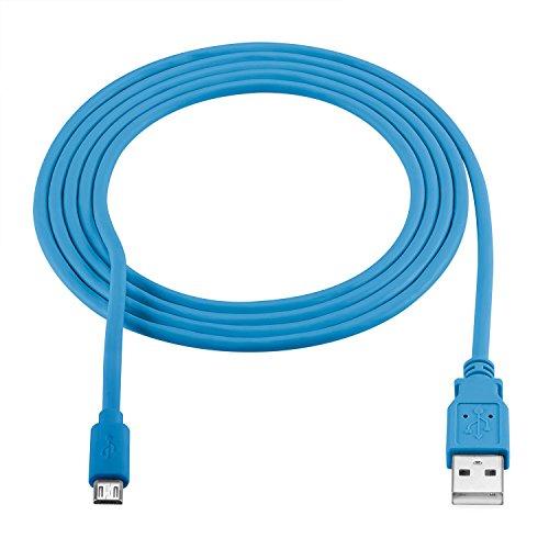 rocabo 1,8m Premium Micro-USB auf USB Kabel blau – Handy Lade-Kabel – Datenkabel – Synchronisation-Kabel – für Smartphones, Handy, E-Reader, MP3-Player und viele mehr