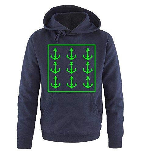 Comedy Shirts -  Felpa con cappuccio  - Maniche lunghe  - Uomo navy / neongreen