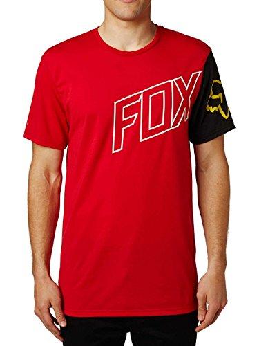 Fox Tech T-Shirt Moto Vation Dunkelrot Rot