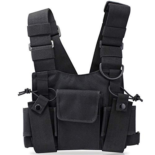 AnarchyCo Chest Rig Bag Utility Walkie Talkie im Militärstil Oxford Utility
