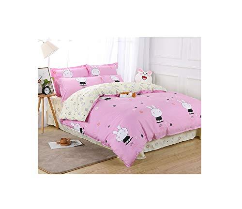 The Unbelievable Dream Bettbezug doppelseitige bettwäsche Set Baumwolle waschbar einfache niedliche Kinder Kinder Erwachsene Mini Bunn-Y, 1