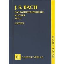 Das Wohltemperierte Klavier 1 ohne Fingersätze; Studien-Edition