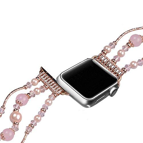 Band für Apple Watch 42mm/38mm, Ersatz Zubehör für iWatch, Armband mit Strass für Apple Watch Band Serie 3/Serie 2/Serie 1 (Schnalle Göttin)