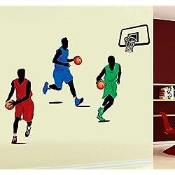 Zooarts Baloncesto Star extraíble vinilo de pared Adhesivos Adhesivo Mural