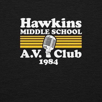 Planet Nerd - Hawkins Middle School - Herren Kapuzenpullover Schwarz
