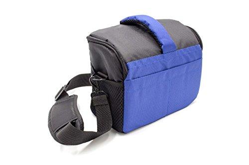 vhbw Universal Tasche 1640 schwarz-blau für Kamera Canon EOS Rebel XS, Rebel XSi, Rebel XT, Rebel XTi Canon Rebel Xt Case
