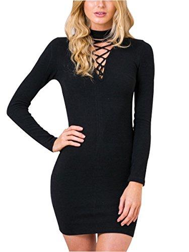 Simplee Apparel - Robe - Femme Noir