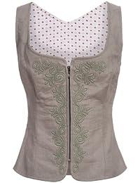Almsach Damen Trachten-Mode Mieder Vallerie in Grau traditionell