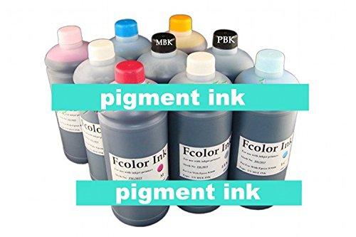Gowe 9Liter ein Set 9Farbe * 1000ml Foto Pigment Tinte für Epson A3Inkjet Drucker R2880Nachfülltinte -