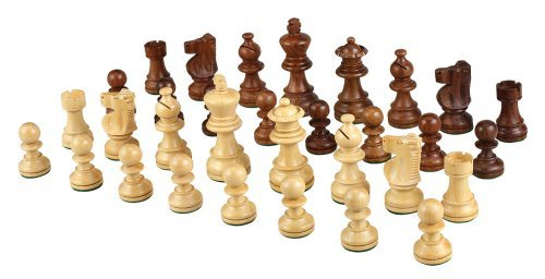 Morrigana Weighted Wood Chess Pieces - Pieces Only - No Board - 3 Inch King by Best Chess Set
