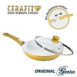 Auswahl - Genius Cerafit Gold Diamant Edition Pfannen in versch. Größen (Pfanne Ø 28cm mit Glasdeckel)