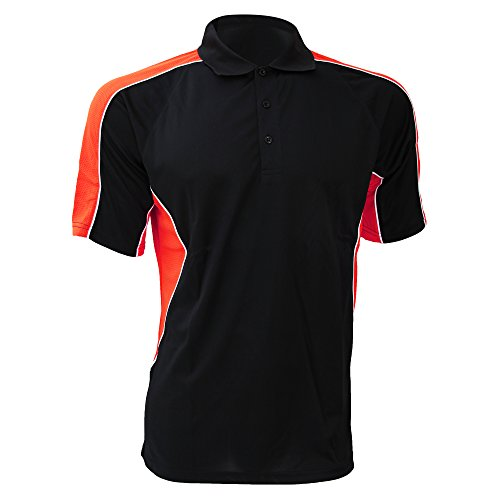 Gamegear Cooltex Active Herren Polo-Shirt, Kurzarm Weiß/Grau