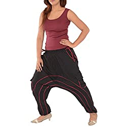 Skirts & Scarves Womens Cotton Afghani Yoga / Harem Pant / Pajama (Black)