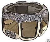 Zebra Pet Dog Cat Tent Puppy Playpen Exercise Pen Crate by BestPet