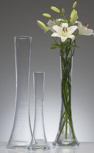 Jarrón de cristal grande, 60cm
