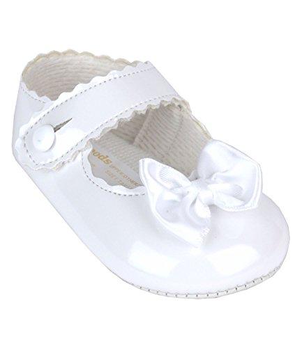 BabyPrem Bébé Chaussures Souple Baptême Filles Vêtements 6 - 12 Mois (68-80cm) Blanc