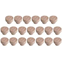Bocotoer 20 pomos de madera para cajones de 40 mm x 25 mm para cajón, cajón, caja de zapatos, puerta