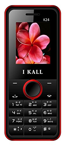 IKALL K24 1.8 Inch Display Dual Sim Mobile With Leather Back - Red