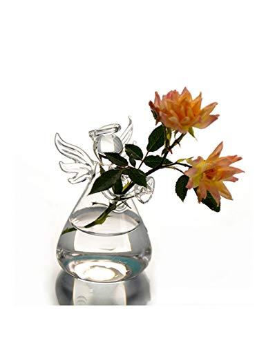 PENFJ Vase Crystal Angel Hängende Glasvase Terrarium Container Pot Home Decor Werkzeug