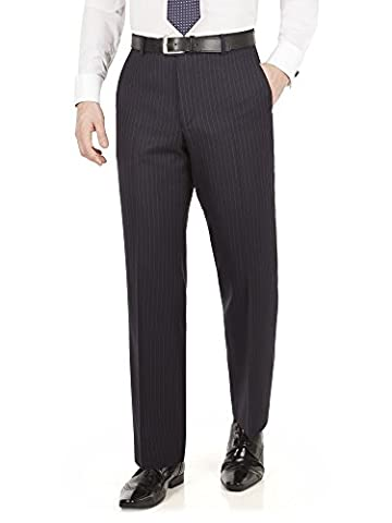 Suit Direct The Label Navy Pinstripe Big+Tall Suit Trouser - LL0943TPN Regular Fit Mixer Trouser Navy 56S
